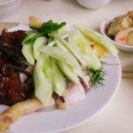 上海コムガーで頼んだ料理、ローストダックとチキン