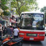 ホーチミンに到着したバス