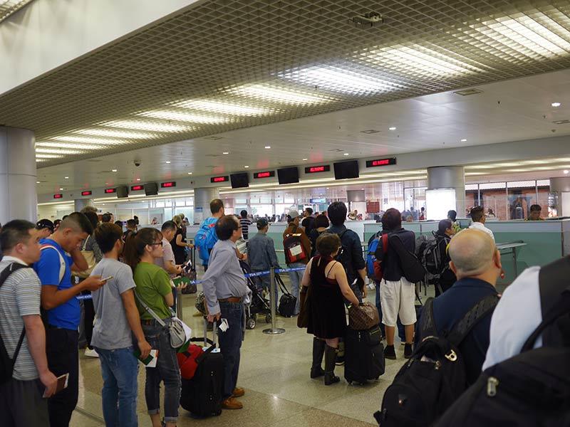 ホーチミン空港で出国時の手続き...